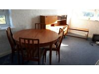 Teak furniture table sideboard coffee table chairs
