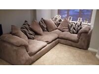 Beautiful Jumbo Cord Corner Sofa for Sale! Great Condition! Free Delivery Available!