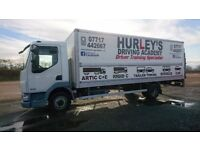 HGV Class 2 training from £180, B+E Trailer towing training from £120 all Midlands area covered