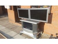 """Polycom Video Conference Unit With 2 x 32"""" Screens"""