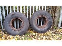 Old lorry tyres, 3 of but will separate