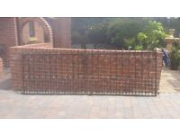 Heavy duty Metal Double Gates approximately 3.1m