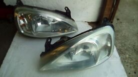 Vauxhall Corsa C headlights good condition ( light use only) lol £20 the pair
