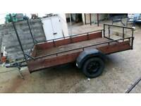 Single wheel trailer good condition 9 ft by 5 ft