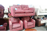 2 SEATER & 2 CHAIRS