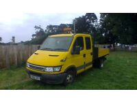 iveco daily 35c12lwb 2.3d double cab tipper 2006 06 reg (not transit)