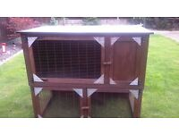 home made rabbit hutch (collection only)
