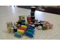 Multicoloured cotton on reels. Some reels vintage collectable. 52 reels in total.