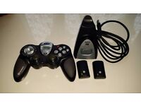 Saitek p3000 usb pc wireless gamepad - needs new battery otherwise working condition
