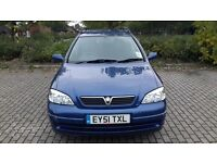 2001 VAUXHALL ASTRA AUTOMATIC 12 MONTHS MOT