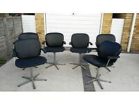 Salon / waiting room chairs. Set of 6.