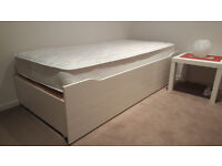 0 km, new mattress with lovely frame is for sale