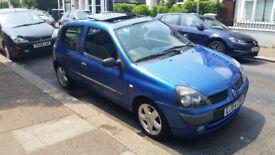 2005 BLUE RENAULT CLIO MK2 1.2 16V HATCHBACK 3 DOORS SUNROOF PETROL