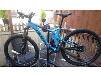Cannondale trigger 4 2015 full suspension mountain bike