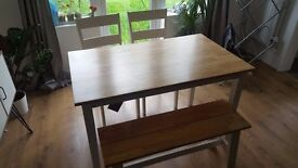 Collection Chicago Dining Table, Bench & 2 Chairs