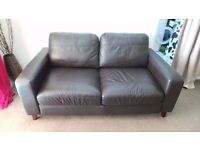 brown real leather sofa delivery available