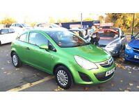 Vauxhall Corsa Eco Flex £30 tax a year cheap to insure perfect runner beautiful bright green colour