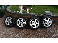 mercedes alloy wheels 5x112 t4 mk5 golf off a c class 2006