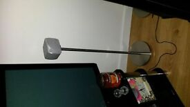 *****4 brushed silver speaker stands for home cinema/audio****