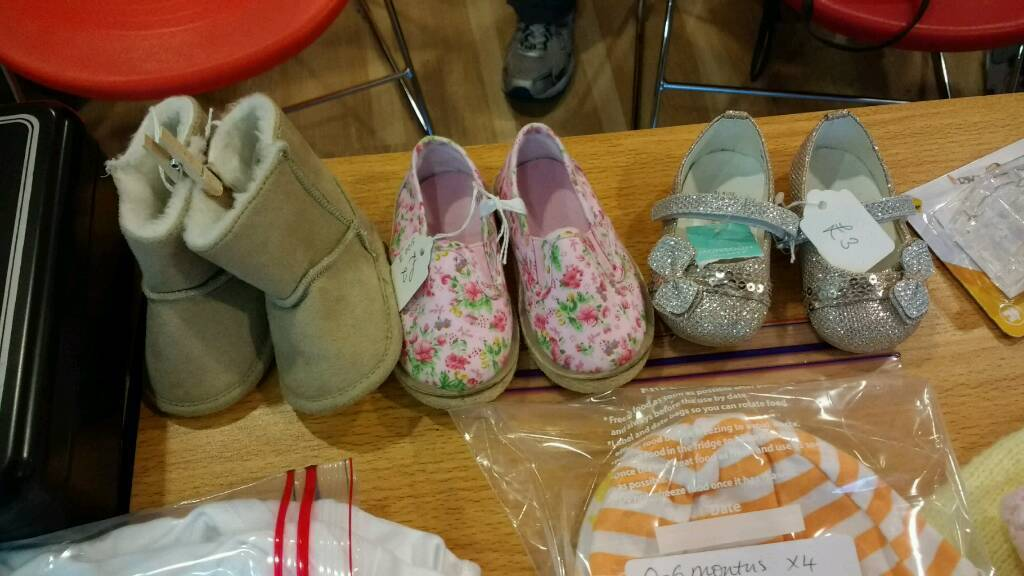 Baby Shoes and Pair of Boots