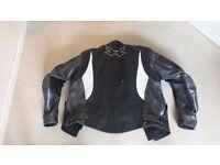 Spada leather motorcycle jacket - size 42 / M