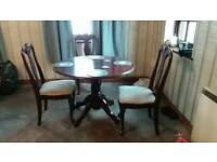 Dutchess table and 4 chairs