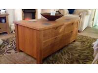 Solid oak NEXT coffee table