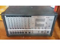 Selling this 8 track power amp, for amplifing small live shows and events