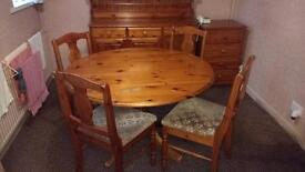 Table and chairs (ducal make)