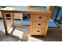 Solid Oak Desk - Ideal for Computer or as Dressing Table