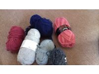 Mix of chunky wool
