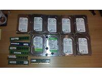 HDD drives 8 x 500GB, 1 x 2 TB
