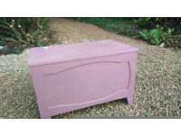 Beautiful Blanket Box, with hinged top