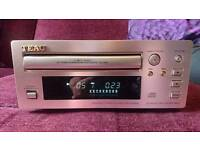 Working champagne Teac PD-H300c cd compact disc player micro separates Hi-fi unit.