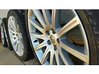 "Genuine 20"" Crysler 300c SRT Alloy Wheels Pristine/ Mint"