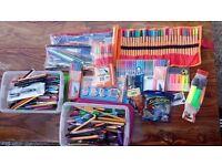 Stationary (pens, pencils, markers, etc)