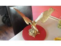 large brass eagle ornament