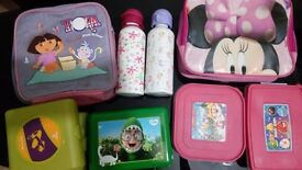 Kids lunch boxes and bottles . Excellent condi