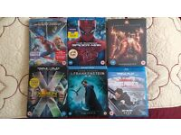 Blockbusters BLU RAY Spiderman X-men Ghost Protocol 3D 2D 4K etc ALL 6 for £15 or 2 for £6 Brand New