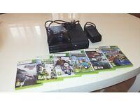 xbox 360e 250gb with 6 games