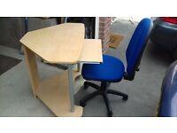 computer desk +office chair