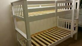 Brand New NOVARO BUNK BEDS in WHITE. SOLID PINE