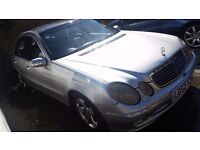 Mercedes E270 cdi 2002 silver, oil cooler needs changing and both bumpers need attention £1245ono