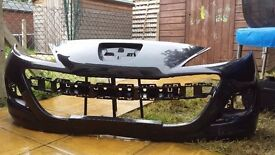 2011 Peugeot 207 front bumper Black