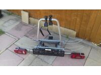QLP cycle rack suitable for 2 (electric) cycles tow bar mounted