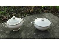 Two vintage soup tureens