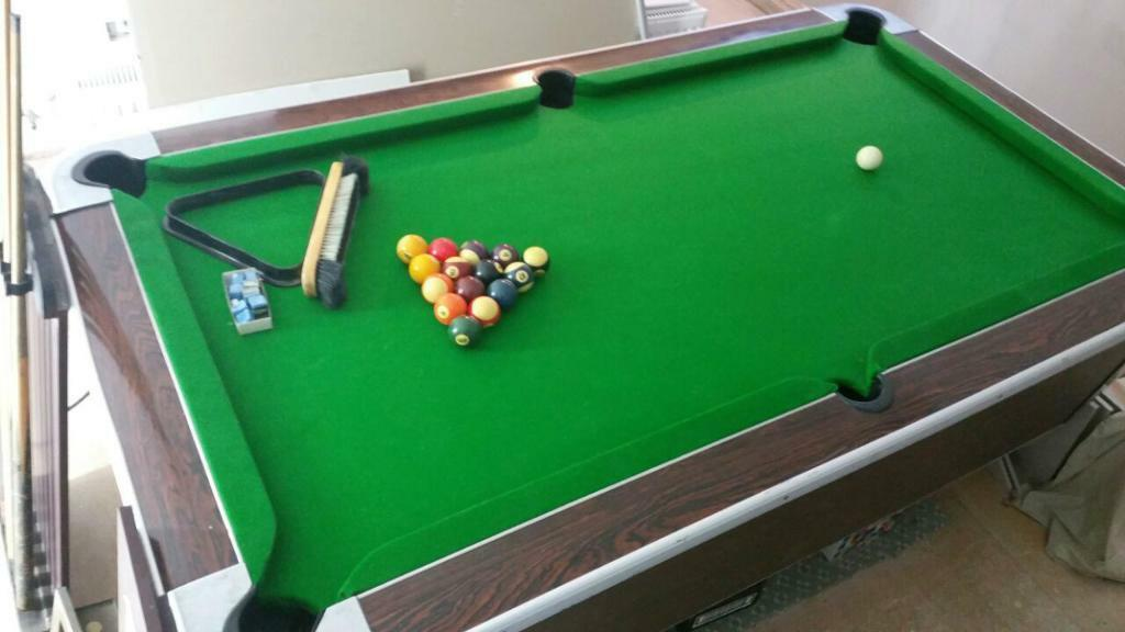 POOL TABLE SLATE BED POOL TABLE OLD SCHOOL ARCADE In Ilford - Old school pool table