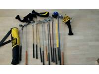 14x Golf clubs junior set and more