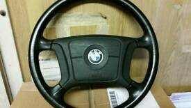 E39 bmw 523 steering wheel with air bag