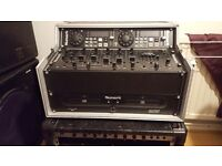 Dj mixer, 2 cd player, 4 channels, case. Excellent condition. Haedly used.